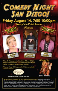 Stand up comedy at Westy's in San Diego